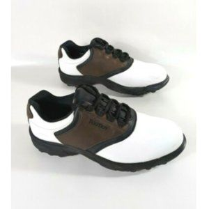 Men's Foot Joy Golf Shoes Brown White Soft Spikes